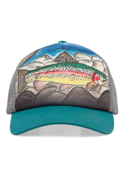 Sunday Afternoons Kids Rainbow Trout Trucker Hat - Front cropped
