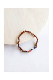 Canyon Leaf Kids: Raw Cognac Amber + Vintage Style Necklace - Product Mini Image