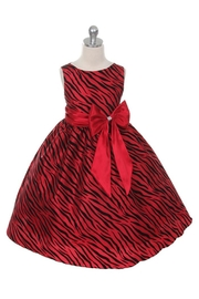 Kids Dream Zebra Bow Dress - Product Mini Image