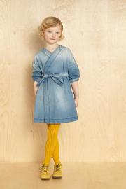 KIDS ON THE MOON Kimono Denim Dress - Product Mini Image