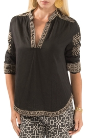 Gretchen Scott Kiev Hand Embroidered Top - Front cropped