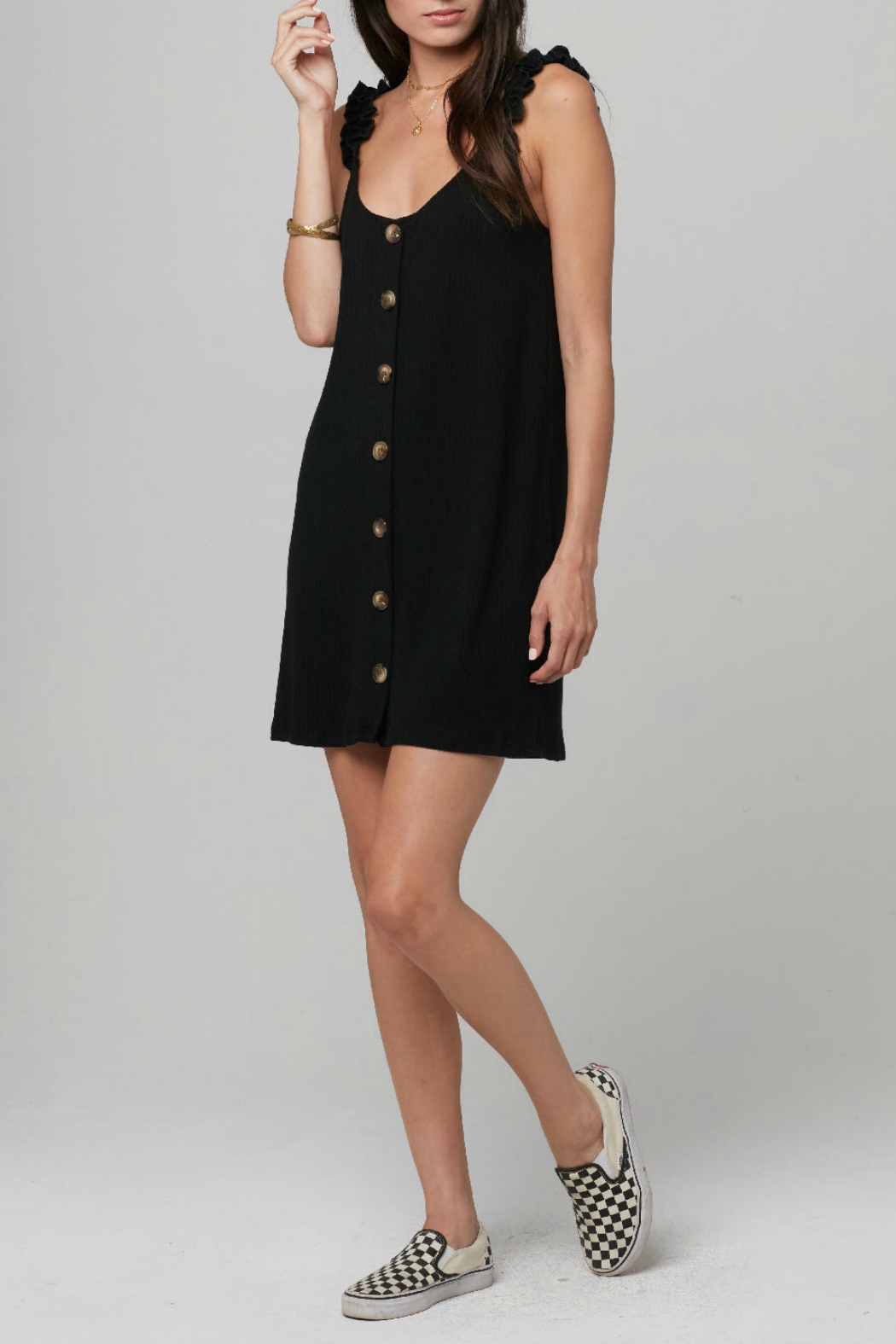 Knot Sisters Kiki Big Button Front Dress - Main Image