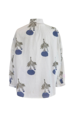 Alix of Bohemia Kiki Blue Flower Shirt - Alternate List Image