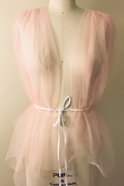 Tiny House of Fashion Kiki Creamy Pink Tulle Top - Product Mini Image