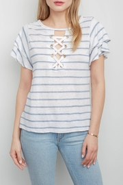Generation Love  Kiki Lace-Up Top - Front cropped