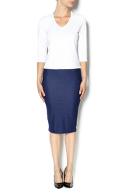 KIKI RIKI Faux Denim Pencil Skirt - Front full body