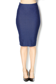 KIKI RIKI Faux Denim Pencil Skirt - Front cropped