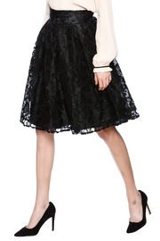 Kikiriki Black Lace A-Line Skirt - Product Mini Image