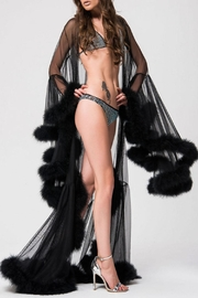 Shawls & Wraps | Vintage Lace & Fur Evening Scarves Kikiriki Cloak Marabou $264.00 AT vintagedancer.com