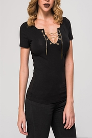 Kikiriki Black Chain Top - Product Mini Image