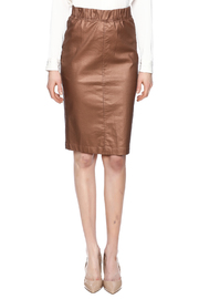 Kikiriki Metallic Jean Pencil Skirt - Side cropped