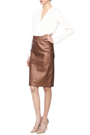 Kikiriki Metallic Jean Pencil Skirt - Front full body