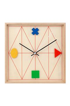 Shoptiques Product: Geometric Wood Clock