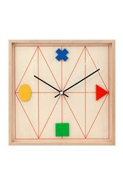 Kikkerland Design Geometric Wood Clock - Product Mini Image