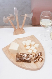 Kikkerland Design Medieval Cheese Board - Side cropped