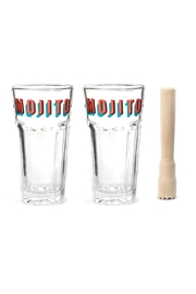 Kikkerland Design Mojito Glass Set - Front full body