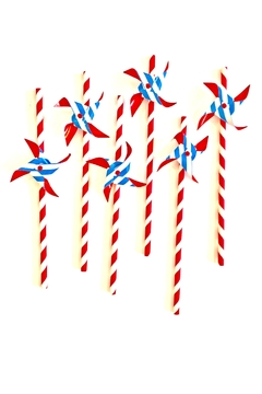 Shoptiques Product: Pinwheel Paper Straws