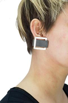 Shoptiques Product: Square Horn Earrings