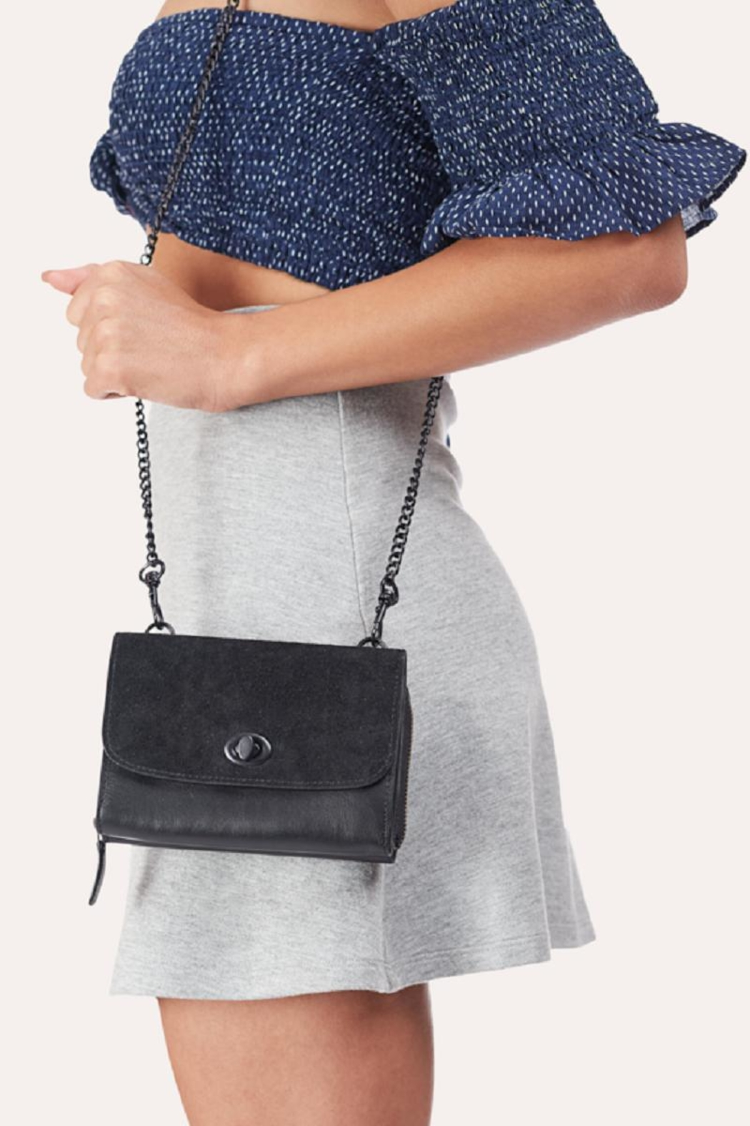 Kiko Leather Black Leather Crossbody - Main Image