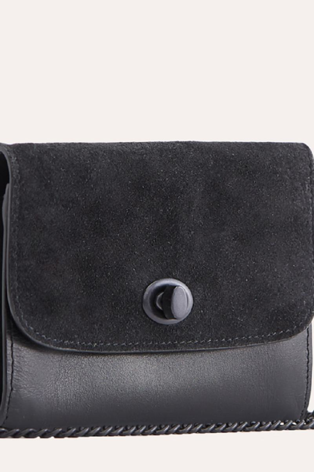 Kiko Leather Black Leather Crossbody - Side Cropped Image