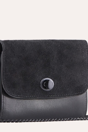 Kiko Leather Black Leather Crossbody - Side cropped
