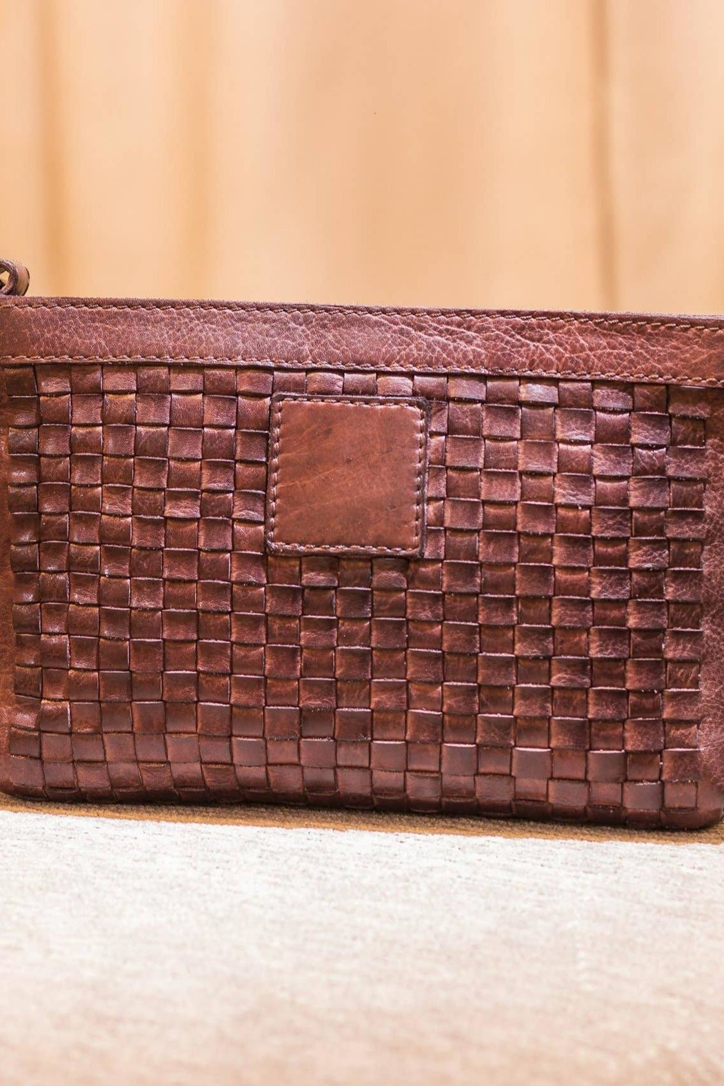 Kiko Leather Brown Leather Crossbody - Front Full Image