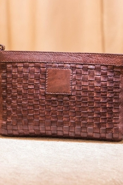 Kiko Leather Brown Leather Crossbody - Front full body