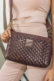 Kiko Leather Brown Leather Crossbody - Front cropped