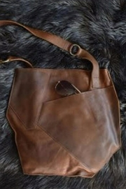 Kiko Leather Crossover Tote - Front full body