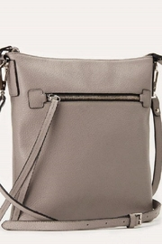 Kiko Leather Grey Leather Crossbody - Front full body