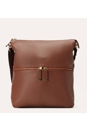 Kiko Leather Large Zipper Tote - Front cropped