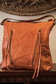Kiko Leather Orange Leather Tote - Front cropped