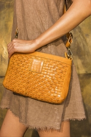 Kiko Leather Woven Leather Crossbody Purse - Front cropped