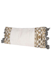 Creative Co-Op Killim Bolster Pillow - Front cropped
