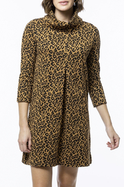 Tyler Boe Kim Jacquard Dress - Cheetah - Product Mini Image