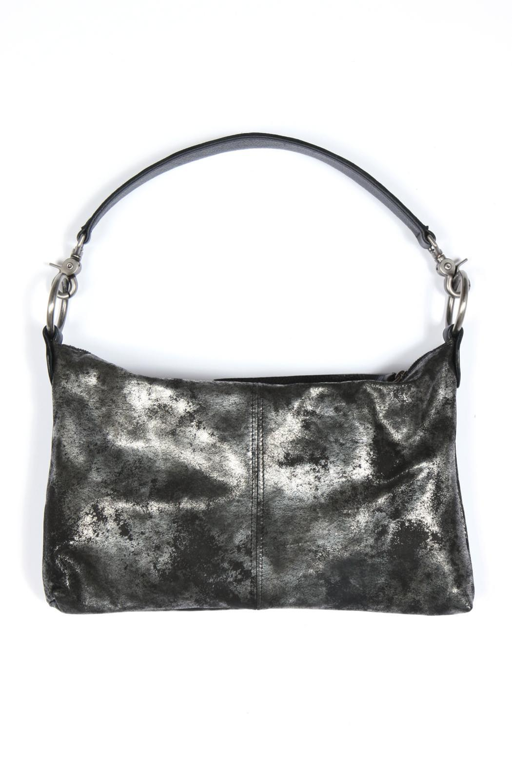 Kim White Metallic Leather Bag - Main Image