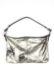Kim White Metallic Leather Bag - Front cropped
