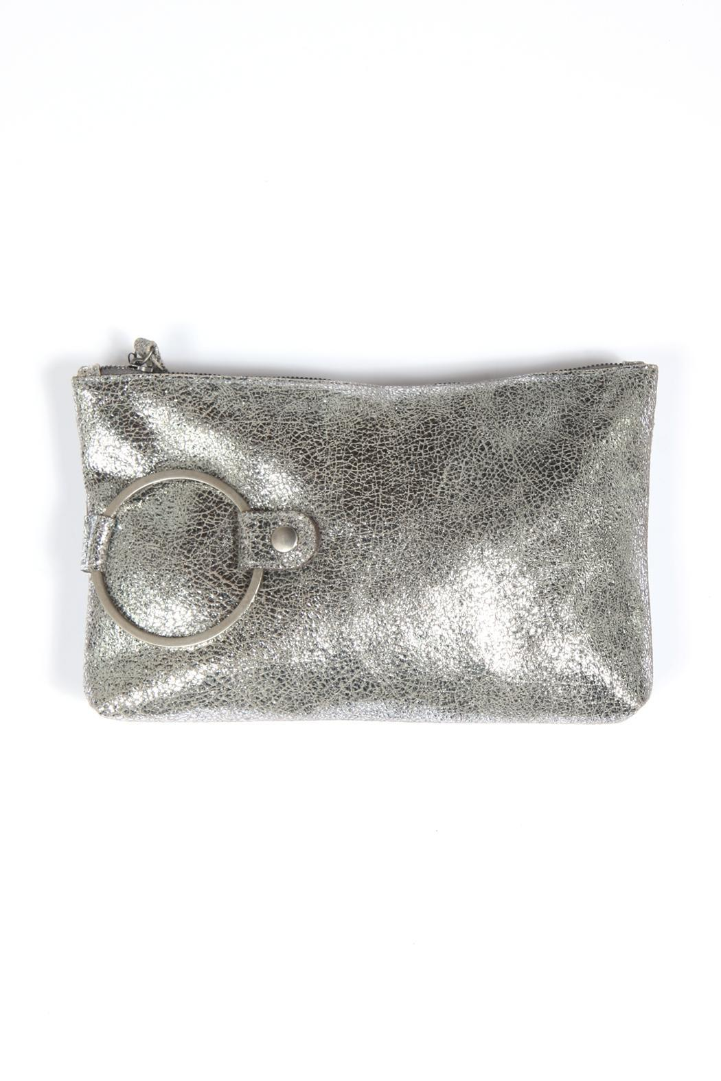 Kim White Ring Clutch - Front Cropped Image
