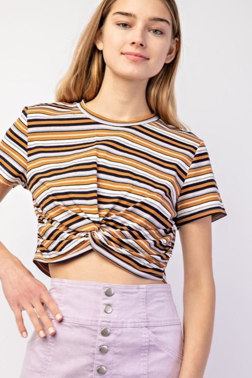 Le Lis Kimberly Stripe Top - Side Cropped Image