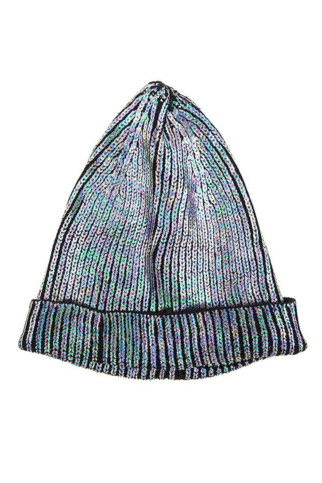 Kimberly C. Metallic Beanie - Front Cropped Image