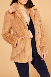 MinkPink Kimbra Faux Fur Jacket - Side cropped