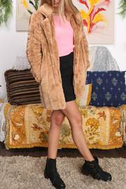 MinkPink Kimbra Faux Fur Jacket - Front full body