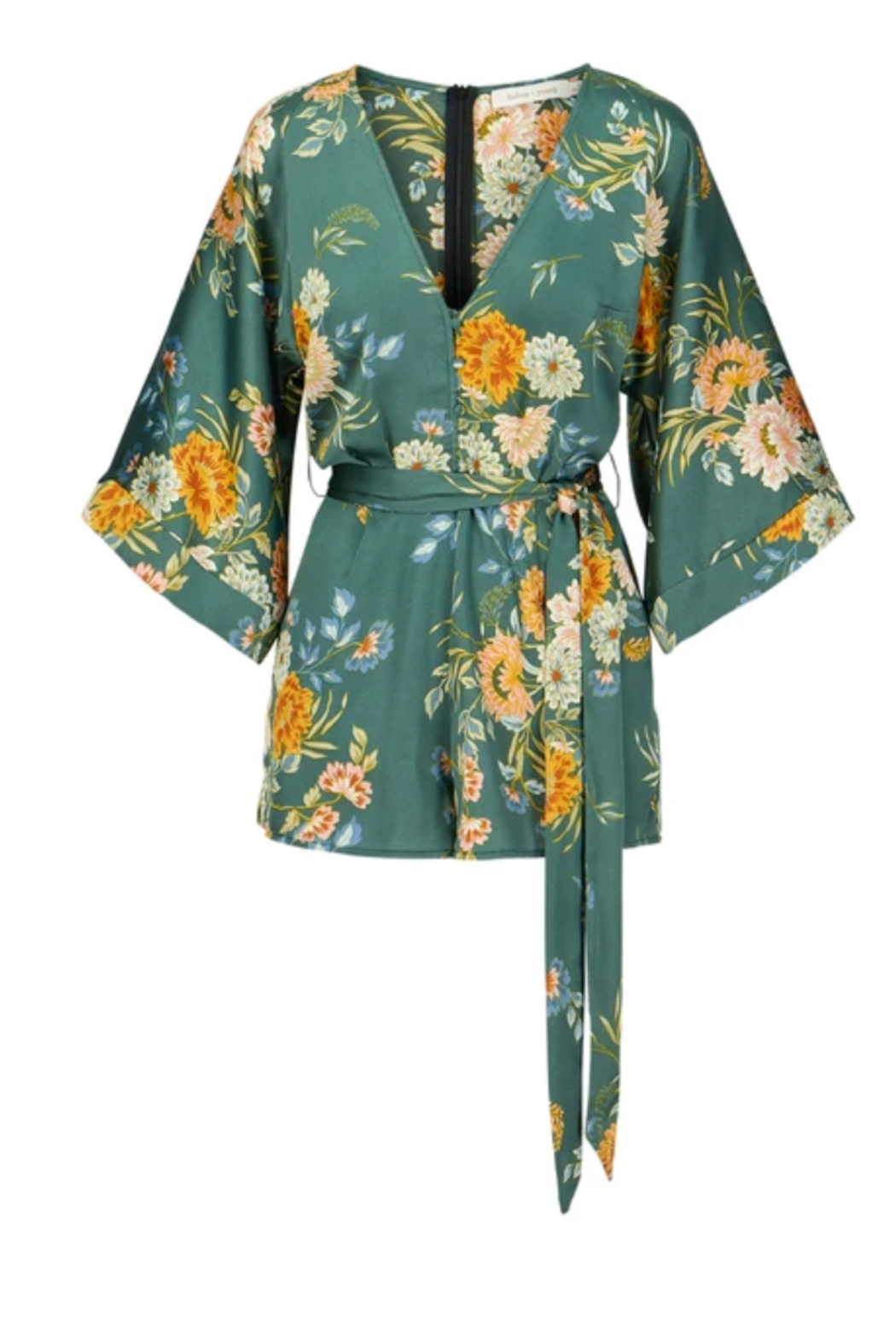 Bishop + Young Kimono Sleeve Romper - Front Cropped Image
