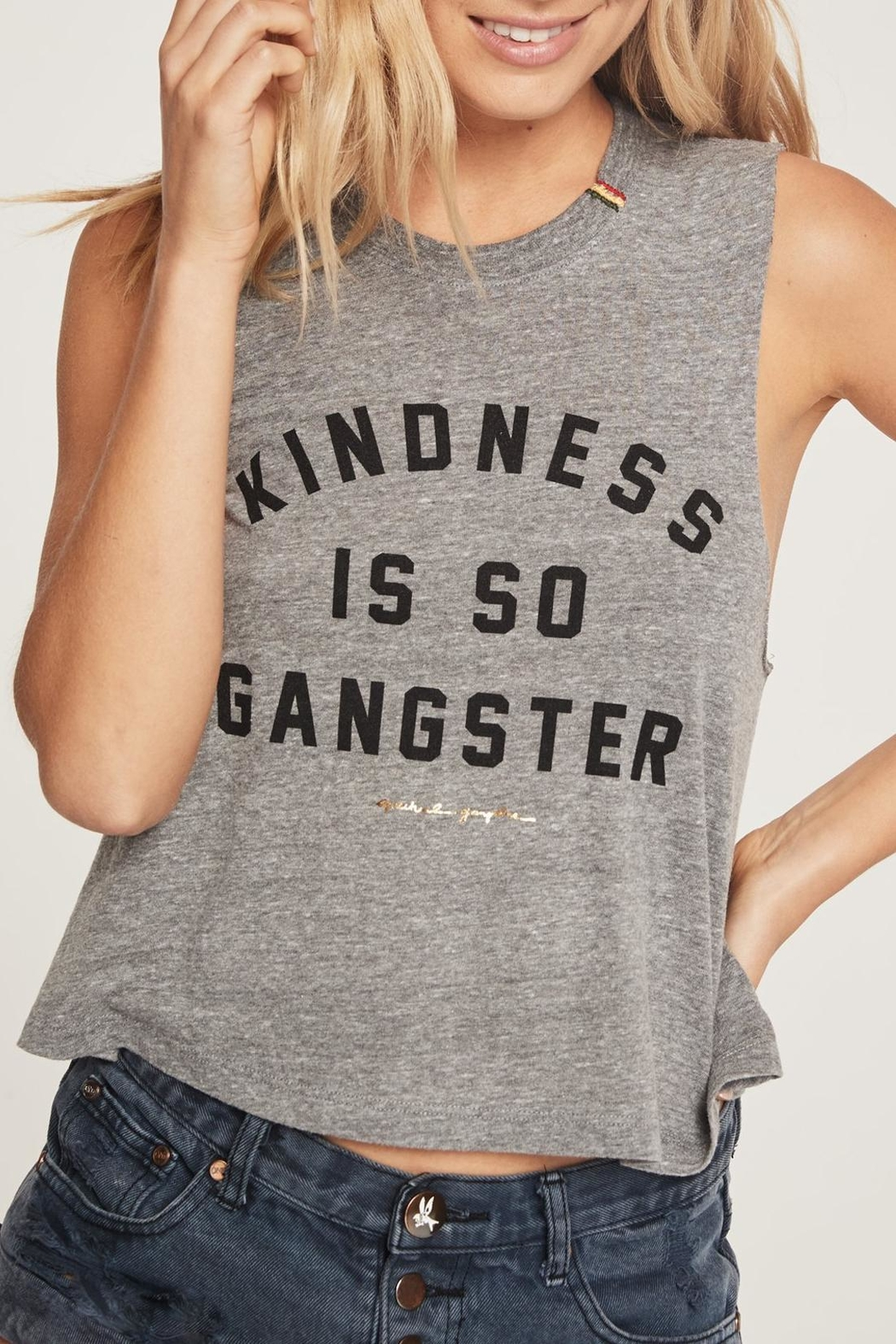 SPIRITUAL GANGSTER Kindness Crop Tank - Front Cropped Image