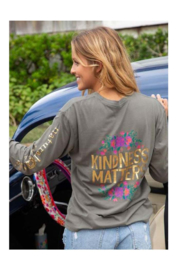Natural Life Kindness Matters Long Sleeve Comfy Tee - Product Mini Image