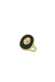 Erin Fader Jewelry King of Beasts Cameo Ring - Front full body