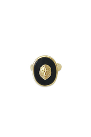 Erin Fader Jewelry King of Beasts Cameo Ring - Front cropped