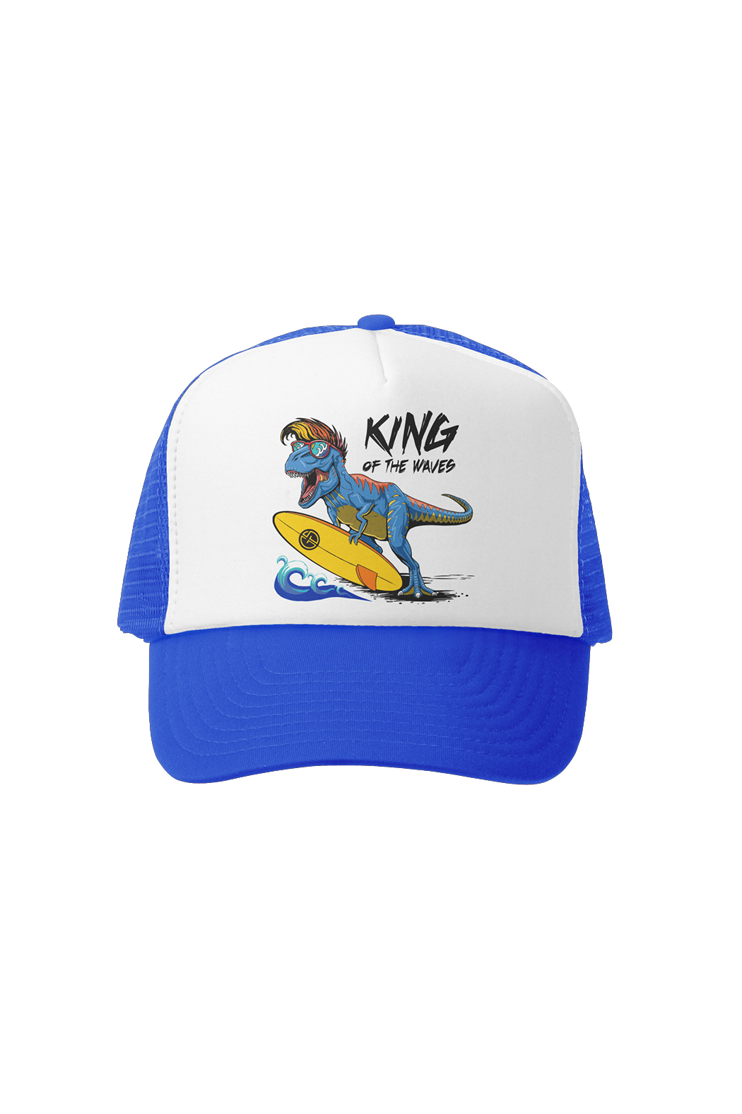 Grom Squad King Of The Waves Trucker Hat - Front Cropped Image