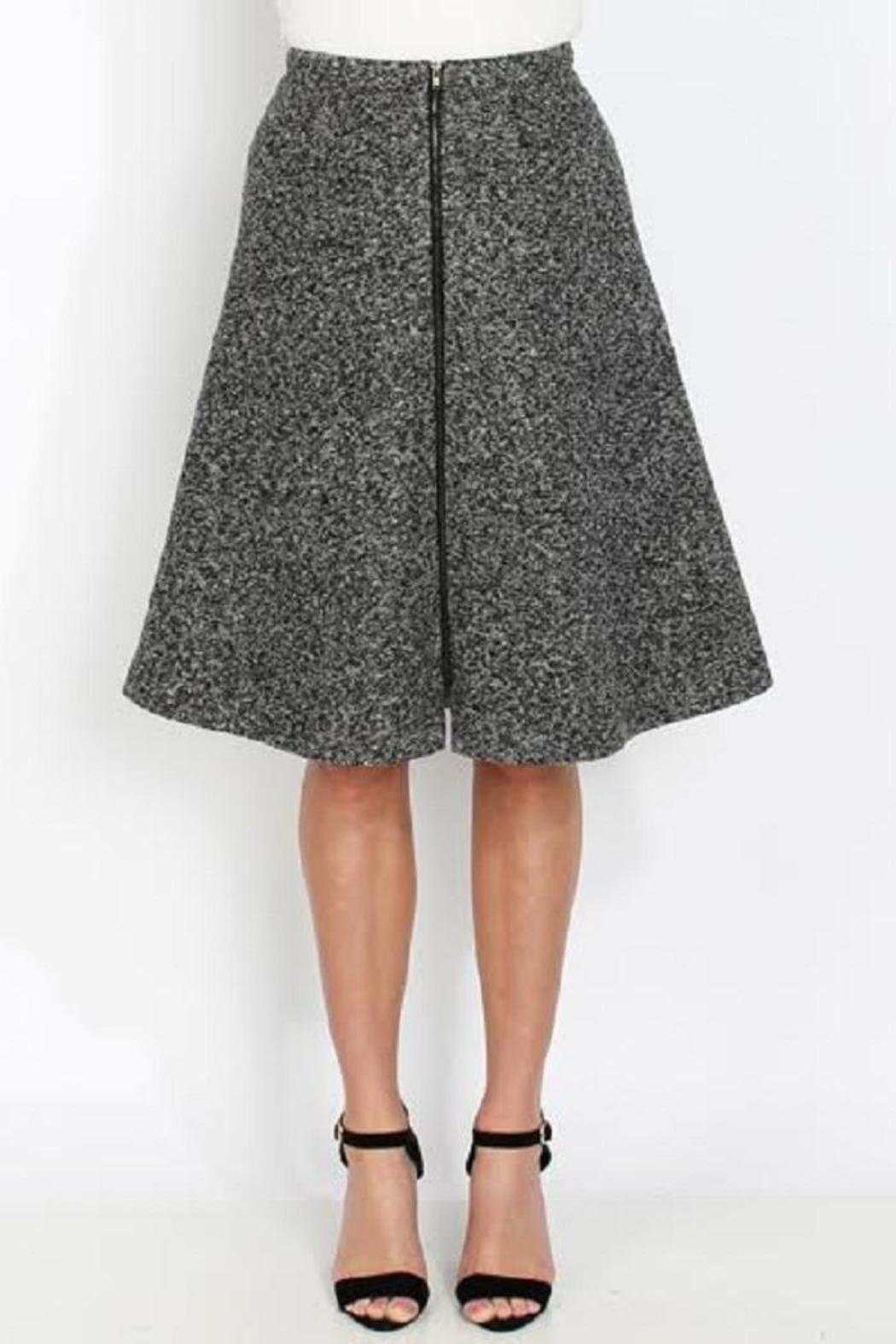 Kingdom & State Tweed Zipper Skirt - Front Cropped Image