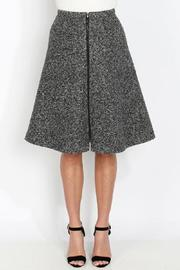 Kingdom & State Tweed Zipper Skirt - Front cropped